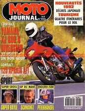 MOTO JOURNAL 1003 Essai Test YAMAHA XJ 600 Diversion APRILIA AF1 125 Peugeot SV