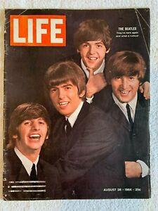 "Life Magazine Beatles Aug 28 1964 Beatles ""Here Again What A Ruckus"""