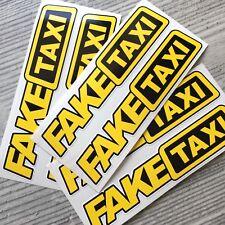 6pc Fake Taxi Sticker Vinyl Decal Car Turbo JDM Window Drift Funny Tuning 105x25