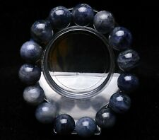 15mm Natural Tanzania Tanzanite Blue Zoisite Gemstone Beads Bracelet AAA