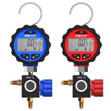 Elitech Smg 1l Amp Smg 1h Hvac Digital Pressure Gauge High Amp Low Pressure Gauges