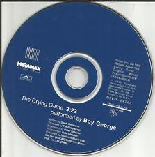 Culture Club BOY GEORGE Crying Game PROMO Radio DJ CD single PET SHOP BOYS prod