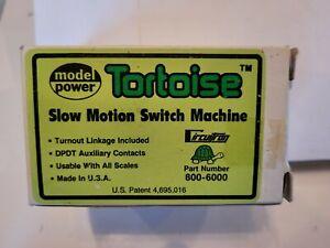 Model Power 800-6000 Tortoise Slow Motion Switch Machine W/instructions - NOS