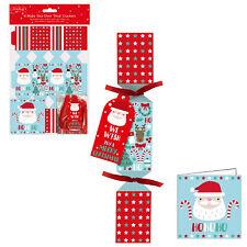 6 Pack Make your Own Treat Christmas Cracker Kit & Cards - Santa Design