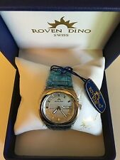 ROVEN DINO MEN'S SWISS WATCH BRAND NEW WITH 5 YEAR WARRANTY 18Kt Gold 6016MSS25