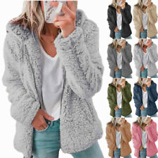 Le donne inverno Orsacchiotto Cappotto Con Cappuccio Zip Donna Felpa Con Cappuccio in Pile caldo soffice giacca