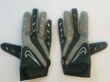 Nike College Elite Remix Football Glove Size  Medium PGF131 Gray