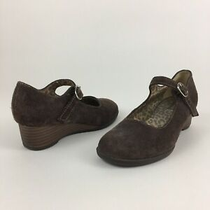 Stride Rite Girls Suede Wedge Mary Jane Shoes / Size 13M