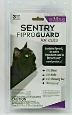 Sentry Fiproguard Cats Topical Treatment for Fleas Ticks Lice 3 month Supply New