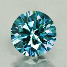 0.67Carat 100%Natural Greenish-Blue Color Round Brilliant Cut Loose Diamond