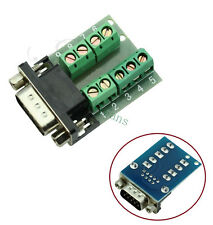 RS232 Serial to Terminal DB9 Male Adapter Connector Signals Terminal Module DB9