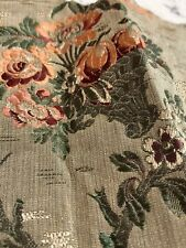 Antique Upholstery Remnant 18th C French Silk Jacquard Damask Floral