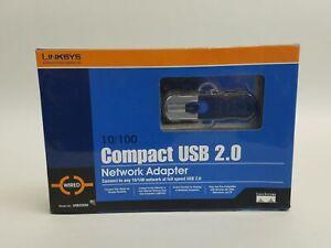 Neu Linksys USB200M Kompakt USB 2.0 10/100 Netzwerk Adapter