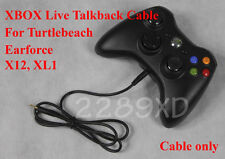 New XBOX TALKBACK CABLE for TURTLE BEACH X12,XL1 LIVE CHAT/ 2.5mm / EAR FORCE