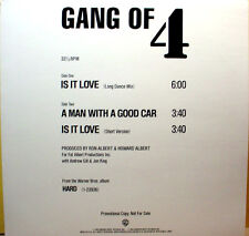 "GANG OF 4 - Is It Love (dance mix) / +2 - '83 - Promo 12"" punk wave Single - NM"