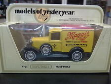 "Matchbox Models of Yesteryear Ford ""A"" 1927 Y-21 geel / zwart / rood ""Maggi's"""