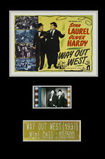 STAN LAUREL AND OLIVER HARDY way out west collectable filmcell fcs010