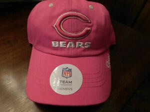 CHICAGO BEARS NFL Team Headwear Womens  FOOTBALL hat cap C LOGO IN PINK NWT
