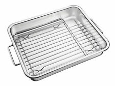 NEW Tramontina Stainless Steel Bake & Roast Pan w/ Grill