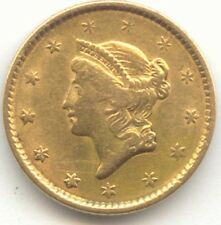 Type 1 Gold Dollar, No Date, XF Details, True Auction, No Reserve