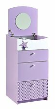 Childrens Fairy Bedroom Draws Dresser With Mirror Drawer Chest,Lilac Wood