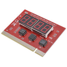 4-Digit 4 Bit Digital PCI PC Analyzer Diagnostic Motherboard POST Test Card Red