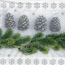 4 Servietten Motivservietten Decoupage Weihnachten Tannenzweige (1222)