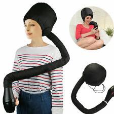 Portable Hair Drying Cap Bonnet Hat Dryer Attachment W/ Pouch Black