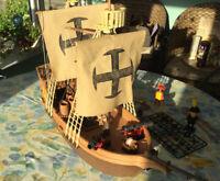 Playmobil 3550 Vintage Pirates Ship & Figures, very rare set 1970's