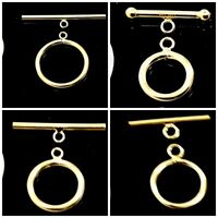 Gold Filled Stamped 14/20 Fancy Toggle Clasp Jewelry 14K Finding 9-15mm Yellow
