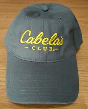 794b89de44f86 Cabelas Club Ball Cap Embroidered Logo Dad Hat Adjustable Strapback Outdoor  Grey