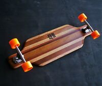 "Longboard Skateboard Hand Crafted 35"" x 10"" in Recycled Timber by Robinwood"