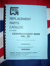 Parts Manual 1974 1975 1976 Mk3 Fits Norton Commando 850cc Electric Start Book