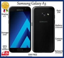 """Samsung Galaxy A3 2017 BLACK/GOLD 16GB*UNLOCKED* 4.7"""" inch HD Smartphone GRADE A"""