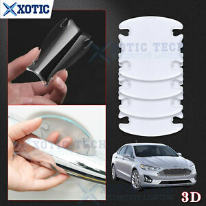 4Pcs 3D Invisible Scotchguard Door Handle Cover Sticker Sheet For Ford 2000-2021