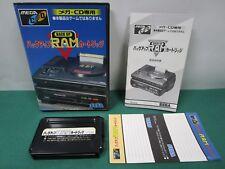 Mega Drive CD Back Up RAM Cartridge. box & manual & label sticker. JAPAN. 12092