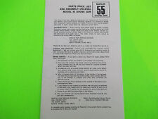MARLIN MODEL 55 GOOSE GUN OWNER'S PARTS LIST & ASSEMBLY DRAWING, dated 1974