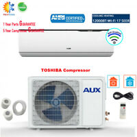 AUX 12000BTU Ductless Air Conditioner Heat Pump MINI Split 1TON 115V 17SEER