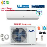 AUX 12000BTU Ductless Air Conditioner Heat Pump MINI Split 1TON 115V 17SEER