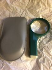Made In England Fabrique En Angleterre Green Optelec 4X Magnifier Pat App W/Case