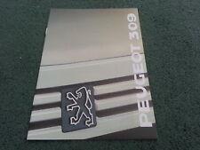 August 1988 / 1989 PEUGEOT 309 inc GTi - A5 FORMAT UK 20 PAGE BROCHURE