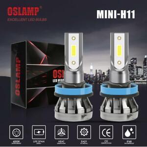LED Headlight Kit H11 H8 H9 1500W 300000LM Plug&Play Pair Bulbs 6500K White