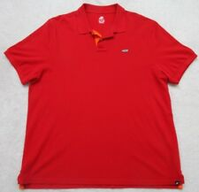 Nike Sportswear Polo Shirt XXL Short Sleeve Men's Man Red Solid Cotton 2XL 2-Btn