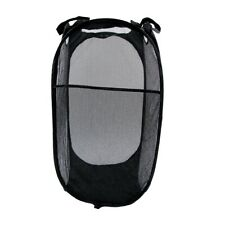 Mesh Pop Up Laundry Hamper Collapsible Clothes Basket Bin Bedroom Dorm Essential
