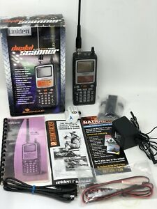Uniden BC296D scanner  with AC Adaptor, manual,  computer cord, belt clip & box