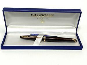 Waterman Carene Marine Amber Fountain Pen GT 18K Gold Nib with Box