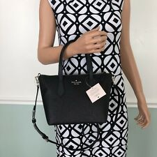 New Kate Spade Joley Small Satchel Shoulder Bag Purse Glitter Black