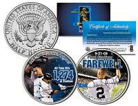 DEREK JETER * Farewell * Colorized JFK Half Dollar US 2-Coin Set - VERY FEW LEFT