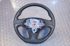2010 Citroen C3 VTR+ 3 SPOKE FLAT BOTTOM GREY LEATHER STEERING WHEEL 96842235ZD