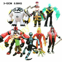 9 PCS Lot Ben 10 Cartoon PVC Action Figure Play Toy Cake Topper Doll Kid Boy NEW